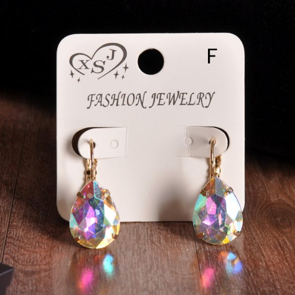 23964 e1ff3b 600x600 - The new fashion gorgeous women's jewelry wholesale girls birthday party red and white black blue-green beautiful earring earring