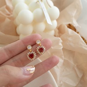 24049 a4ab43 300x300 - 2019 New Fashion Temperament Romantic Red Heart Earrings Elegant Sexy Korean Women Jewelry Earrings