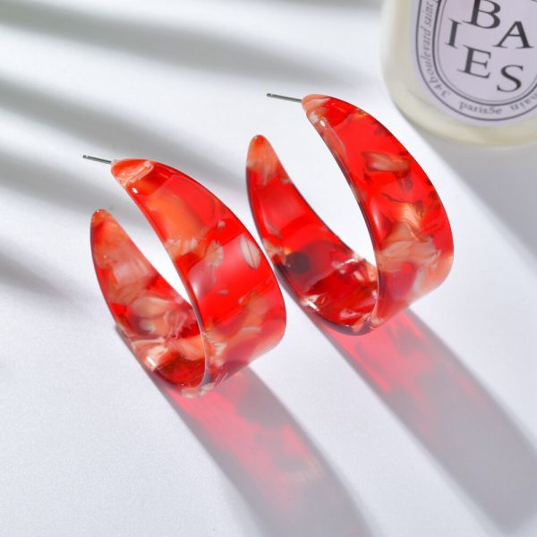 24104 41f736 600x600 - 2019 New Resin Acrylic Drop Dangle Earrings For Women Bohemian Geometric Red Fashion Pendant Earring Wedding Jewelry