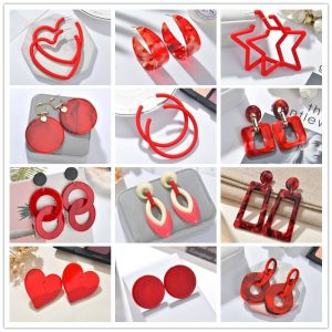 24104 bec536 300x300 - 2019 New Resin Acrylic Drop Dangle Earrings For Women Bohemian Geometric Red Fashion Pendant Earring Wedding Jewelry