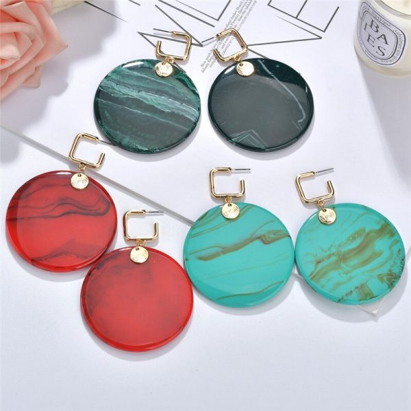 24104 fba0f9 600x600 - 2019 New Resin Acrylic Drop Dangle Earrings For Women Bohemian Geometric Red Fashion Pendant Earring Wedding Jewelry