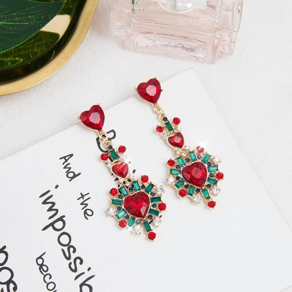 24186 2e8675 600x600 - 2019 New Hot Sale 20 Style Red Fashion Korean Elegant Geometric Dangle Earrings for Women Cute Pendant Mujer Jewelry