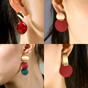 24256 d5379f 300x300 - X&P New Statement Drop Earrings For Women Fashion Gold Earrings Acrylic Geometric Red Dangle Earring 2019 Wedding Brinco Jewelry