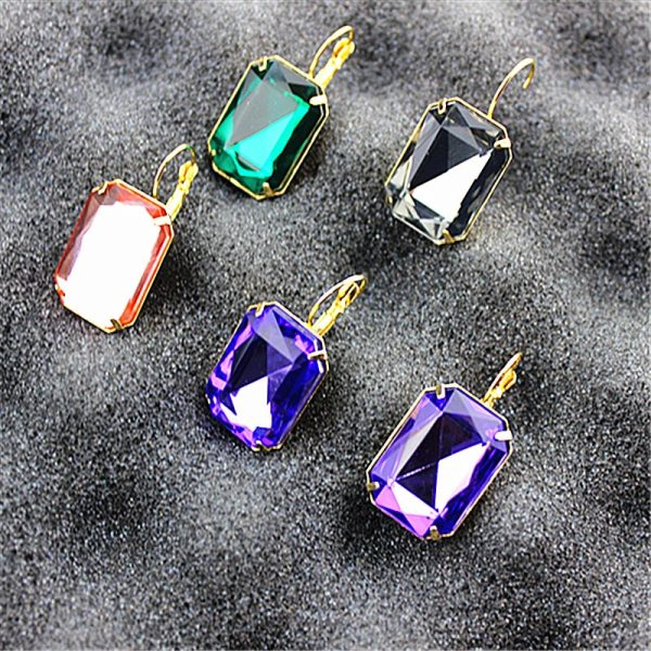 24293 4ae8a9 600x600 - Hot and bright green purplish red, purple and blue pink and blue pink color women's birthday party earrings with beautiful earri