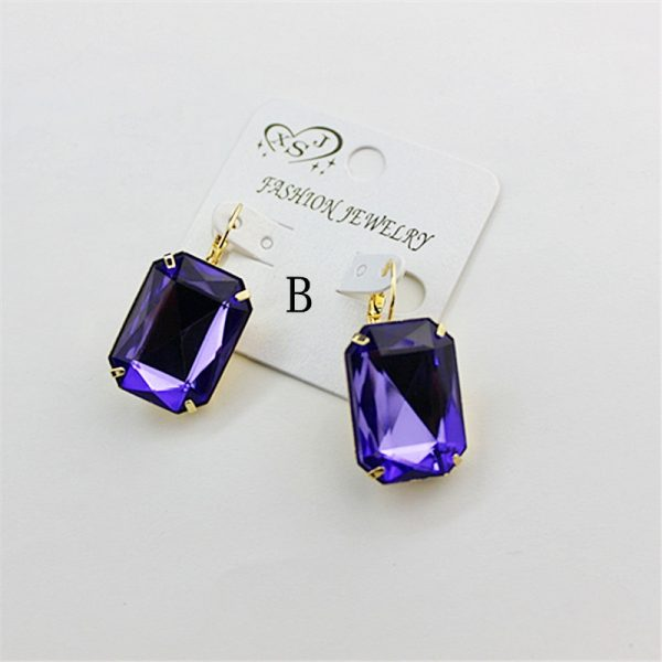 24293 ef14f8 600x600 - Hot and bright green purplish red, purple and blue pink and blue pink color women's birthday party earrings with beautiful earri