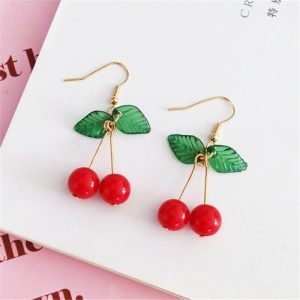 24297 966c95 300x300 - hot red Cherry earrings eardrop Sweet fruit fresh cherry eardrop female fashion youth beautiful girl students earrings for women