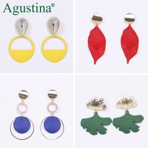 24484 01a6b6 300x300 - Agustina 2020 Fashion Earrings Jewelry Women Bohemian Metal Drop Earrings Cute Red/Pink/Blue Earrings Statement Korean Wholesale