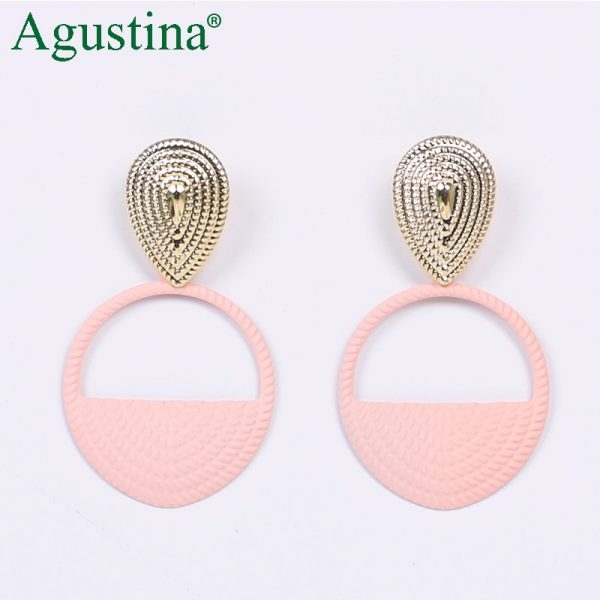 24484 624ff5 600x600 - Agustina 2020 Fashion Earrings Jewelry Women Bohemian Metal Drop Earrings Cute Red/Pink/Blue Earrings Statement Korean Wholesale