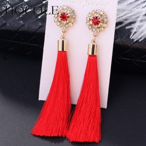 24498 d33a5b 300x300 - Bohemia Crystal Flower Tassel Earrings Handmade Red Blue Fringed Long Drop Earrings boucle d'oreille For Women Girl Jewelry Gift