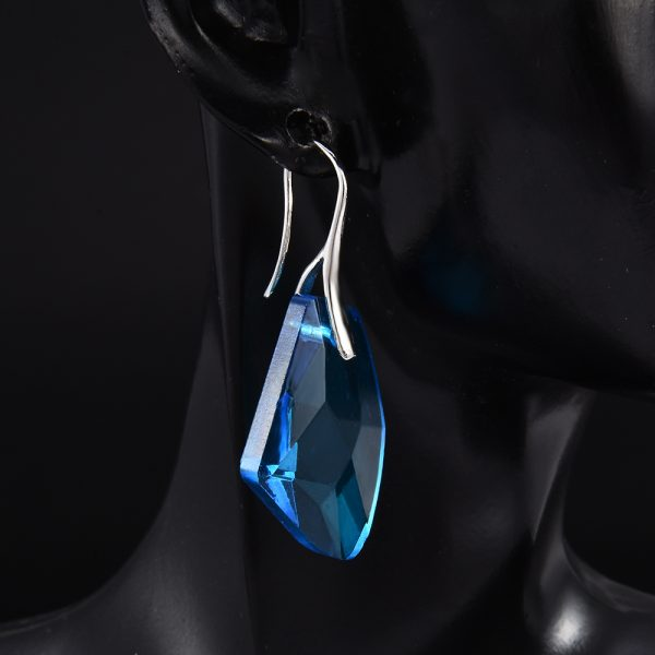 24717 48d8c2 600x600 - New Fashion Personality Blue women Crystal Long Drop Earrings Jewelry for Woman Free shipping