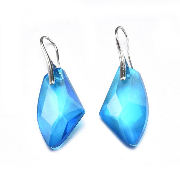 24717 8859ad 600x600 - New Fashion Personality Blue women Crystal Long Drop Earrings Jewelry for Woman Free shipping