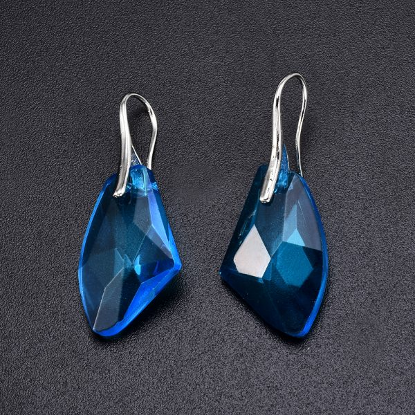 24717 a1ab96 600x600 - New Fashion Personality Blue women Crystal Long Drop Earrings Jewelry for Woman Free shipping
