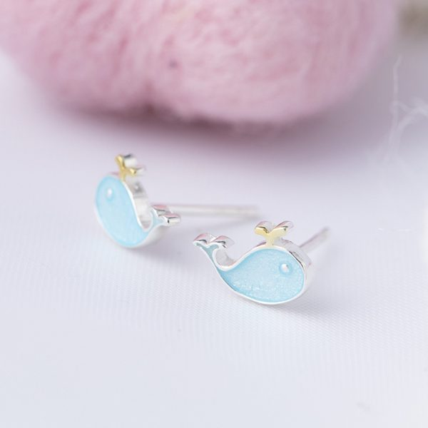 24724 52edb0 600x600 - Stud Earrings for Women with 925 Sterling Silver Earrings Dolphin Light Blue Jewelry Accessories Wholesale