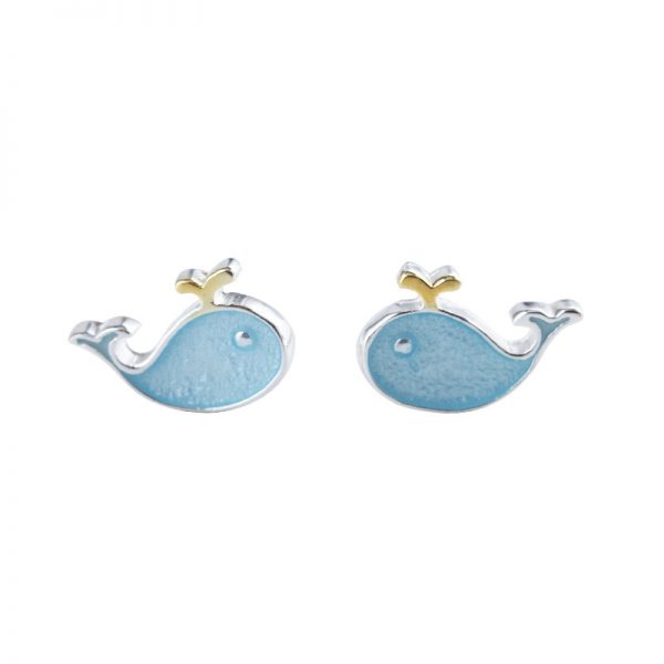 24724 862306 600x600 - Stud Earrings for Women with 925 Sterling Silver Earrings Dolphin Light Blue Jewelry Accessories Wholesale