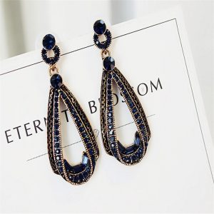 24744 89c133 300x300 - LUBOV Exaggerated Blue Crystal Lace Golden Metal Chain Dangle Earrings Women Personality Statement Drop Earrings Christmas Gift