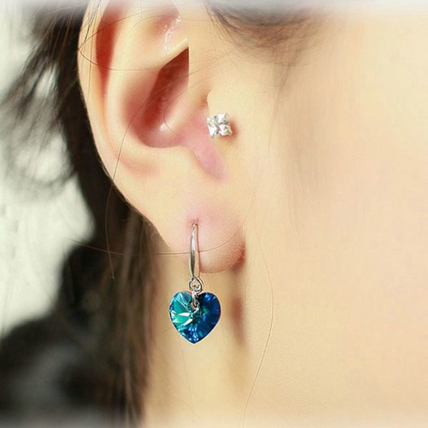 24852 09d3c2 600x600 - 2019 Austria Crystal Silver Plated Earrings Blue Heart of Ocean Shaped Earring for Birthday Gift for Women pendientes mujer moda