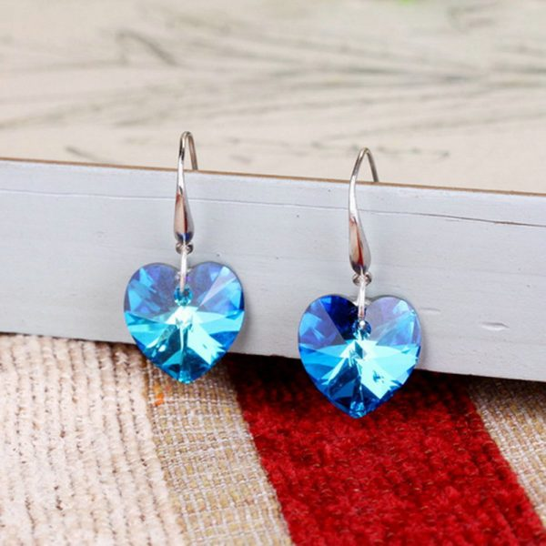 24852 71ae64 600x600 - 2019 Austria Crystal Silver Plated Earrings Blue Heart of Ocean Shaped Earring for Birthday Gift for Women pendientes mujer moda