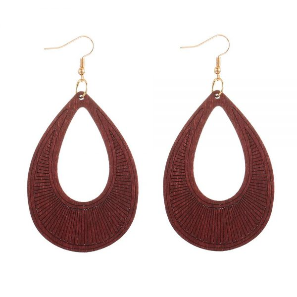 25110 3dce70 600x600 - YULUCH Ethnic Long Hollow Wooden Sculpture Pendant Earrings For Women Vintage African Boho 8 Colors Yellow Blue Drop Earrings