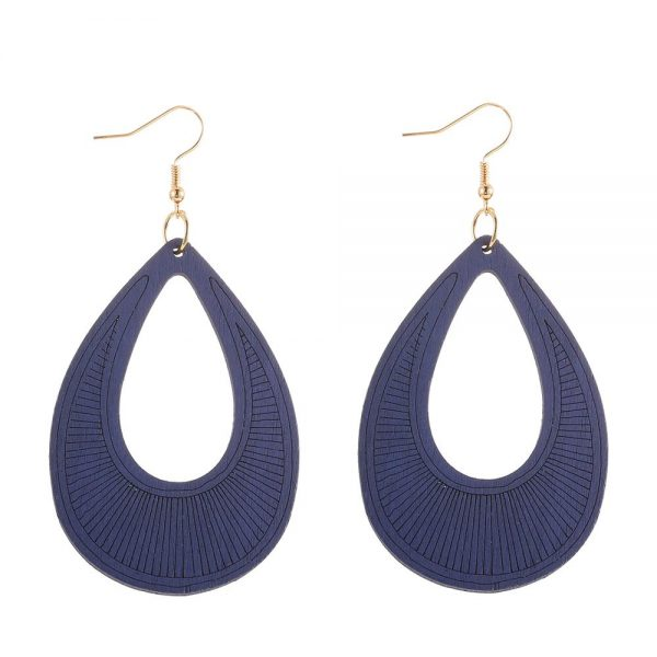 25110 af5ad1 600x600 - YULUCH Ethnic Long Hollow Wooden Sculpture Pendant Earrings For Women Vintage African Boho 8 Colors Yellow Blue Drop Earrings