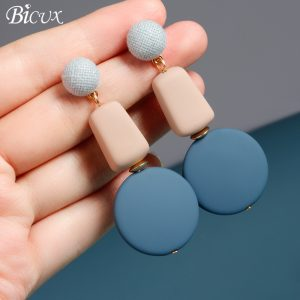 25242 d5b85f 300x300 - BICUX New Fashion Wood Dangle Drop Korean Earrings For Women Geometric Blue Acrylic Earring 2019 Bohemia Wedding Brincos Jewelry