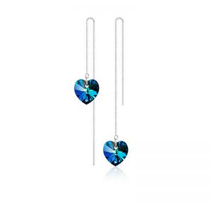 25348 49b517 300x300 - Hot Sale Heart Love Long Earrings For Women jewelry Blue Crystal Silver Color Luxury Wedding Party Drop Dangle Earrings