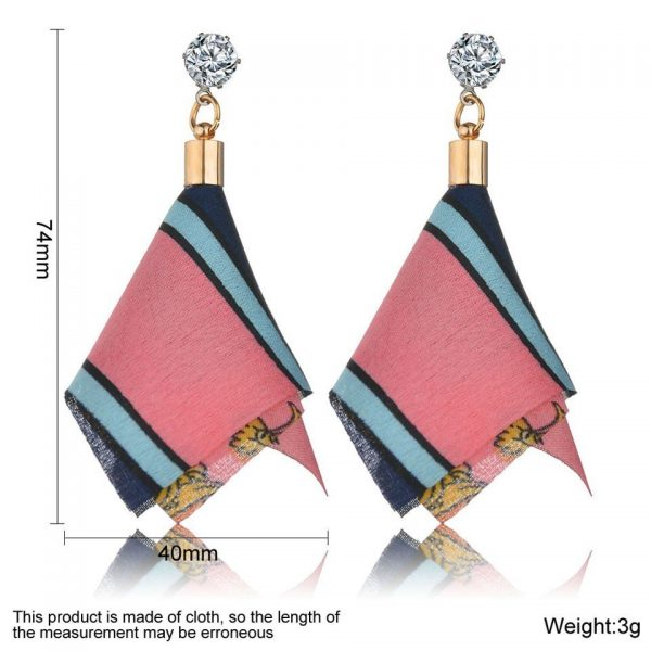 25353 096a48 600x600 - Bohemian Heart Tassel Long Drop Earrings BOHO Pink Blue Silk Fabric Design Dangle Earrings For Women Jewelry Gift Christmas