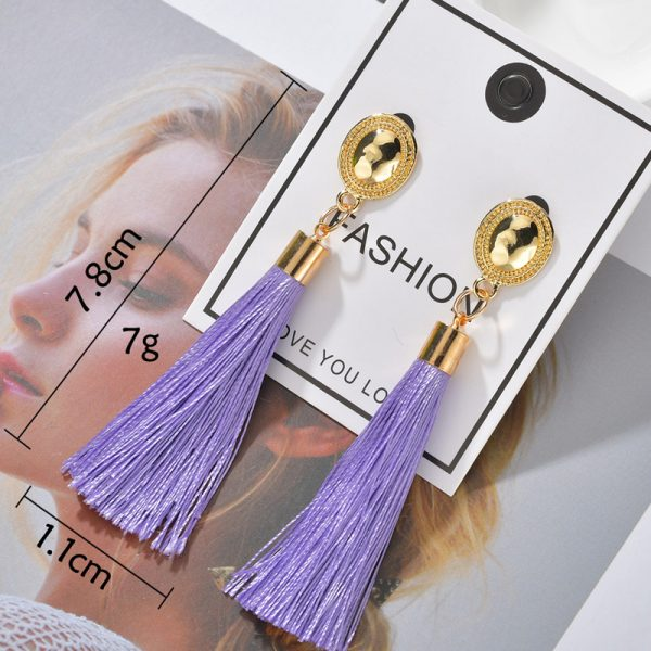 25353 1fe1e3 600x600 - Bohemian Heart Tassel Long Drop Earrings BOHO Pink Blue Silk Fabric Design Dangle Earrings For Women Jewelry Gift Christmas