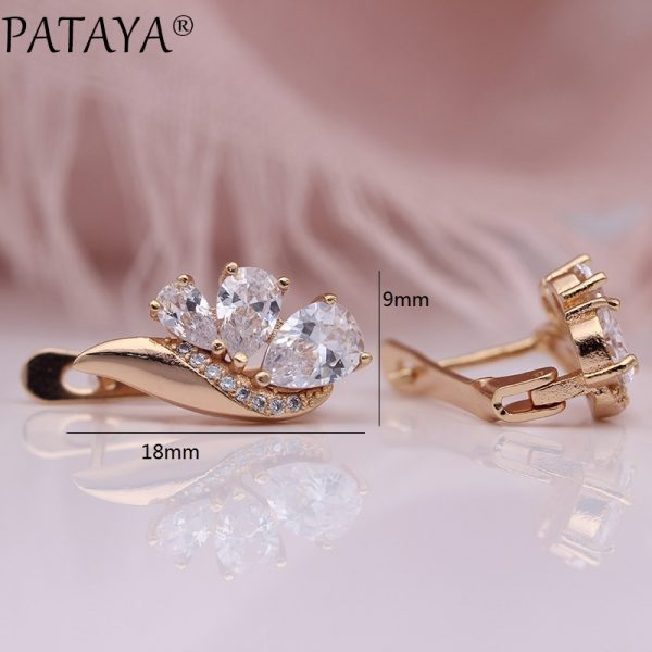 25381 abcb69 600x600 - PATAYA New Three Water Drop Gradient Blue Earrings Women Natural Zircon Party Fine Fashion Jewelry 585 Rose Gold Dangle Earrings
