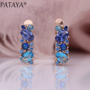 25392 44fd28 300x300 - PATAYA New Mix Blue Earrings For Women Fashion Wedding Fine Noble Jewelry 585 Rose Gold Round Oval Natural Zircon Dangle Earring