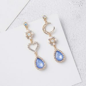 25666 566e89 300x300 - 2019 New Sweet Asymmetry Shiny Rhinestone Love Heart Moon Drop Earrings for Women Long Blue Crystal Tassel Dangle Jewelry 6A2032