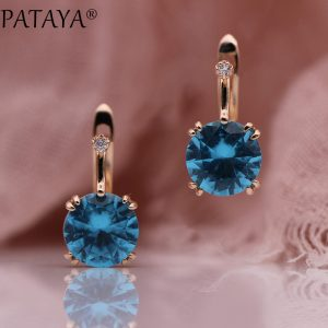 25667 5ac005 300x300 - PATAYA 828 Promotion New Round Blue Earrings Women Fashion Noble Wedding Jewelry 585 Rose Gold Natural Zircon Dangle Earrings