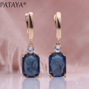 25738 1fab16 300x300 - PATAYA New Square Dark Blue Long Earrings Women Wedding Jewelry 585 Rose Gold Hollow Multicolor Natural Zircon Dangle Earrings