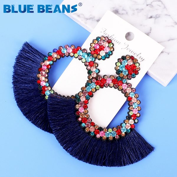 25822 4d390a 600x600 - Tassel Earrings Women Punk Earings Fashion Jewelry Hanging Crystal Star Girls Earring Drop Dangle Long Boho Set  Luxury Handmade