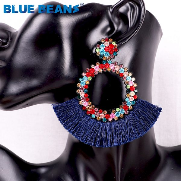 25822 888658 600x600 - Tassel Earrings Women Punk Earings Fashion Jewelry Hanging Crystal Star Girls Earring Drop Dangle Long Boho Set  Luxury Handmade