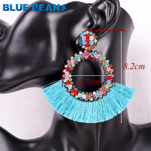 25822 fffb8e 600x600 - Tassel Earrings Women Punk Earings Fashion Jewelry Hanging Crystal Star Girls Earring Drop Dangle Long Boho Set  Luxury Handmade
