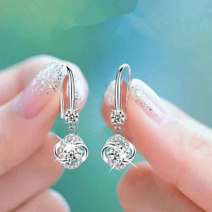25931 59e7ea 300x300 - Cute Female Crystal Pink Blue White Drop Earrings Fashion 925 Silver Zircon Stone Earrings Small Round Dangle Earrings For Women