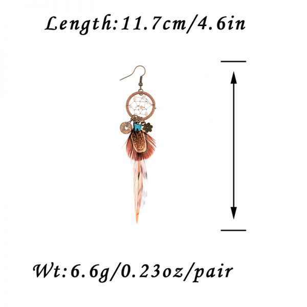 26066 093e89 600x600 - TopHanqi Bohemian Hollow Dream Catcher Leaf Feather Earrings For Women Indian Jewelry Blue Natural Stone Drop Dangle Earrings