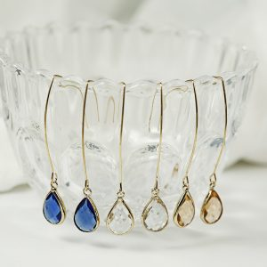 26333 8432b5 300x300 - 8Seasons New Simple Yellow/White/Blue Crystal Water Drop Earrings for Women Wedding Party Long Dangle Earring Fashion Jewelry
