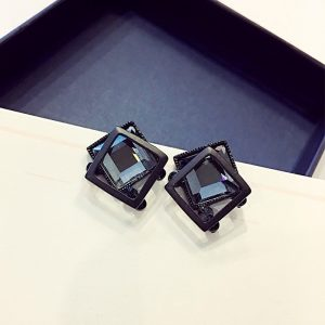 26782 956bc3 300x300 - New Design Hot Sale Fashion Jewelry Simple Black Crystal Metal Earrings aretes de mujer modernos 2019