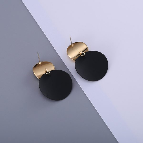 26866 bf44e6 600x600 - Unique Black Stud Earrings Trendy Gold Color Round Metal Statement Earrings for Women New Arrival wing yuk tak Fashion Jewelry