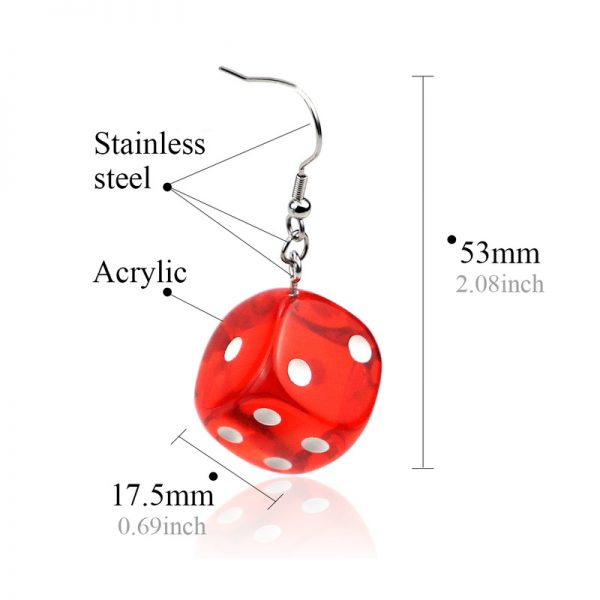27529 52083f 600x600 - Aiovlo 2019 Women's Earring Red 3D Chess Game Hip Hop Night Club Jewelry Long Stainless Steel Ear Hook & Acrylic Dice Earrings