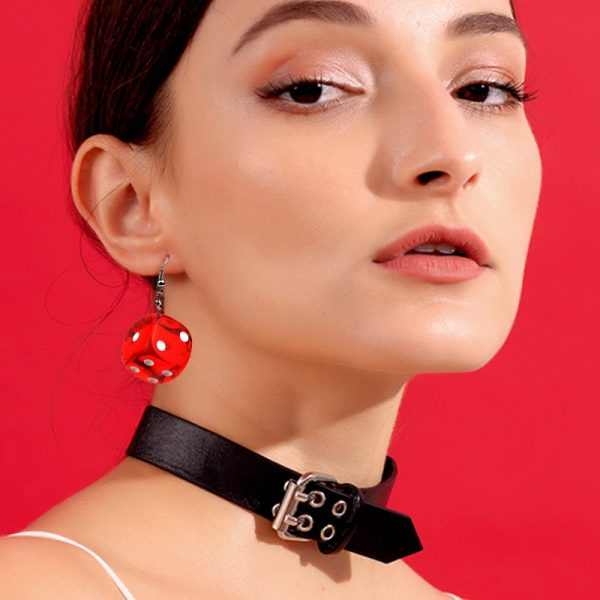 27529 7bc2fd 600x600 - Aiovlo 2019 Women's Earring Red 3D Chess Game Hip Hop Night Club Jewelry Long Stainless Steel Ear Hook & Acrylic Dice Earrings