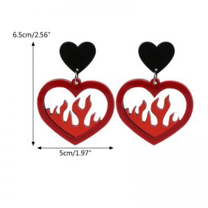 27572 08984a 300x300 - Free shipping Acrylic Red Heart Fire Dangle Earrings Pendant Statement Women Fashion Jewelry