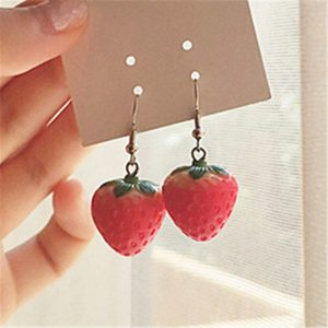 27678 e19fd7 300x300 - New Fruit strawberry earring female lovely girl simulation red strawberry dangle earring for women fine jewelry accessories DIY
