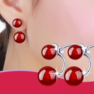 27742 bfb8c3 300x300 - New Fashion Brand Jewelry Simple Natural Red Stud Earrings For Women Gift Elegant Earrings Accessories