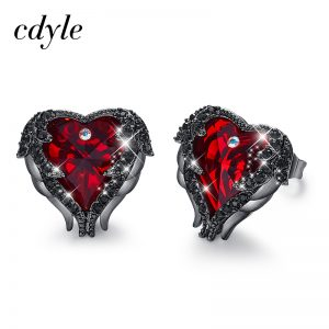 27817 4531a7 300x300 - Cdeyle Angel Wing Copper Earrings Heart Red Crystal from Swarovski Stud Earrings for Christmas Gift Women's Fashion Jewelry 2019