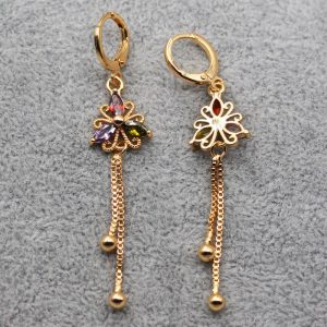 28094 c08a4a 300x300 - Luxury Earrings for Women Gold Filled Color Flower Drop Earring with Red  Zircon Trendy Jewelry for Wedding Engagement Gif