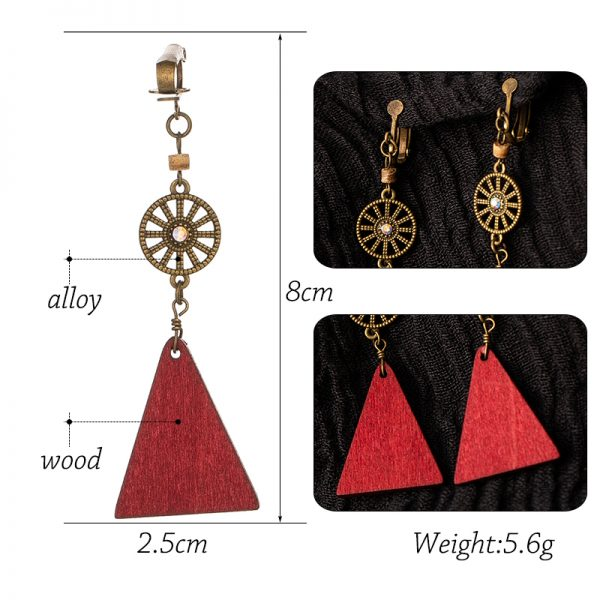 28179 00aab5 600x600 - Vintage Bohemia crystal red wood long hanging dangle Drop Earrings for Women 2019 fashion gift wedding party jewelry accessories