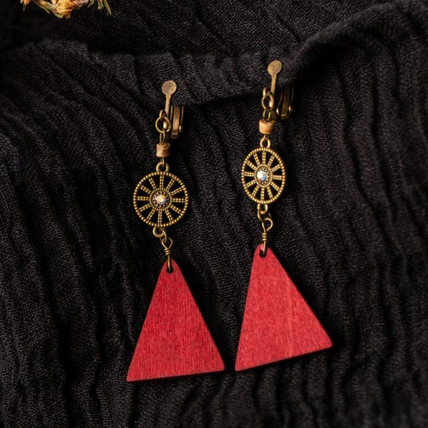 28179 e1d910 600x600 - Vintage Bohemia crystal red wood long hanging dangle Drop Earrings for Women 2019 fashion gift wedding party jewelry accessories