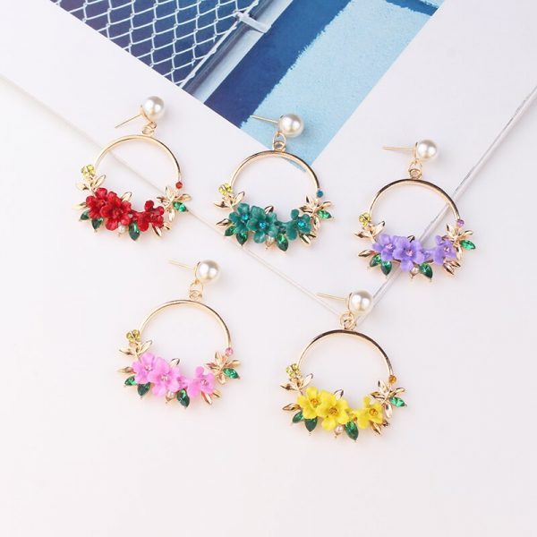 28483 569a42 600x600 - LUBOV 4 styles RED Geometric Crystal Stone Gold Color Metal Frame Drop Earrings for Women Birthday Gift Party Jewelry